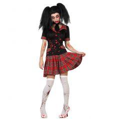 Costume de Zombie Ecolière Femme