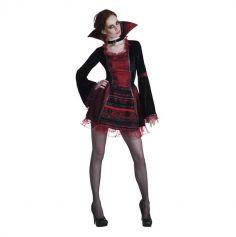 Déguisement Elégante Vampiresse Femme - Taille au Choix | jourdefete.com