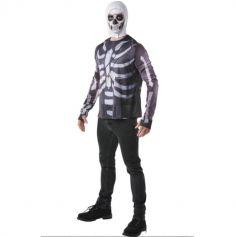 Déguisement Enfant - FORTNITE Top et Cagoule Skull Trooper - Taille au Choix | jourdefete.com