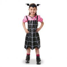 Deguisement Enfant Vampirina robe noir et rose serre tete chauve souris - Taille au choix | jourdefete.com