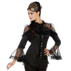 Déguisement Femme - Blouse Victoria Steampunk - Taille au Choix | JOURDEFETE.COM