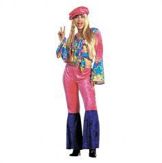 Déguisement Femme Hippie Velours