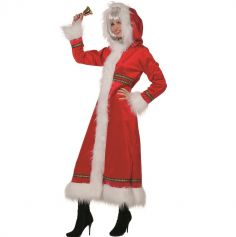 Déguisement Femme - Manteau de Mère Noël - Taille au Choix | jourdefete.com