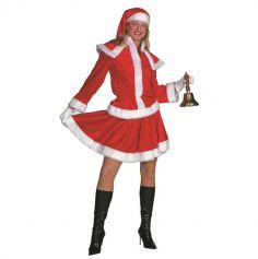 Déguisement Femme - Mère Noël - 3 Pièces - Taille au Choix | jourdefete.com