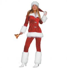 Déguisement Femme - Mère Noël en Pantalon - Taille au Choix | jourdefete.com