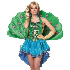 Déguisement Femme – Paon – Vert et Bleu – Taille au Choix | jourdefete.com