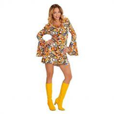 Déguisement Femme - Robe Bubbles - 70's - Années Disco - Taille au Choix