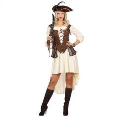Déguisement Femme - Robe de Pirate avec Bustier - Taille au Choix | jourdefete.com