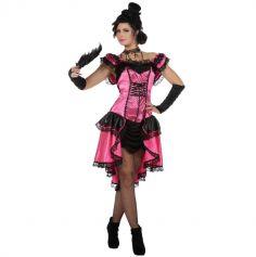 Déguisement Femme - Robe French Cancan - Rose - Taille au Choix | jourdefete.com