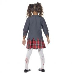 Déguisement Fille - Écolière Zombie - Taille au Choix