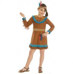 Déguisement Fille - Indienne Sioux - Taille au Choix | jourdefete.com