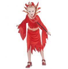 Déguisement Fille Petite Diablesse Flamme 5-6 ans