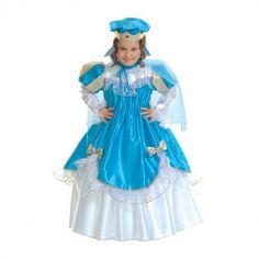 Déguisement Fille Princesse Bleue