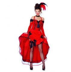 Déguisement French Cancan  Rouge Danseuse de Cabaret - Taille au Choix