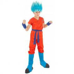 Déguisement Garçon - Dragon Ball Super - Son Goku Super Saiyan Blue - Taille au Choix | jourdefete.com