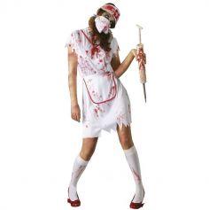 Déguisement Halloween d' Infirmière Zombie - Taille au Choix