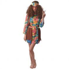 Déguisement Hippie avec Collier - Femme - Taille au choix