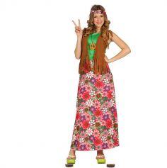 Déguisement robe longue de Hippie femme