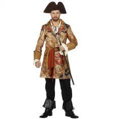 Déguisement Homme - Manteau de Pirate - Carte au Trésor - Taille au Choix | jourdefete.com