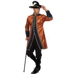 Déguisement Homme – Manteau et Pantalon de Pirate – Orange – Taille au Choix | jourdefete.com