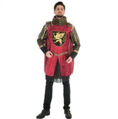 Déguisement Homme - Roi Médiéval Rouge - Luxe - Taille au Choix | jourdefete.com