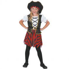 Deguisement Pirate Fille Rouge et Noir | jourdefete.com