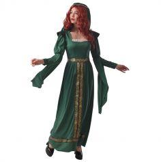 deguisement de princesse medievale pour femme avec robe verte   jourdefete.com