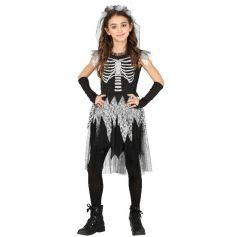 Déguisement Robe Squelette pour fille - Taille au Choix