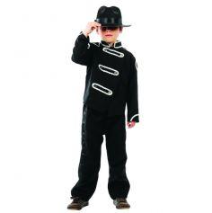 Costume Noir Mickaël Jackson enfant - Roi de la pop