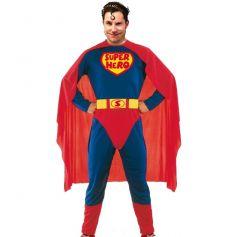 déguisement de superman avec cape et ceinture de super héro