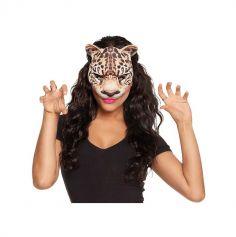 Demi-Masque de Léopard Adulte