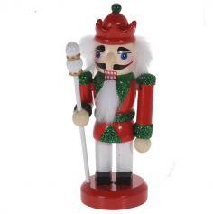 Mini Casse-Noisette A suspendre - Soldat et son sceptre  Rouge et Vert