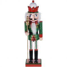 Casse-Noisette à poser - Moyen Modèle - Roi et son Sceptre - Rouge et Vert