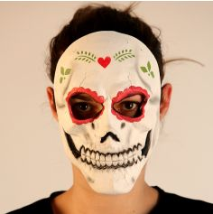 Masque en Latex Day Of The Dead Femme