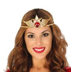 diademe super heroine en metal | jourdefete.com
