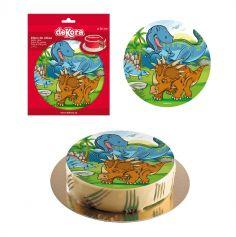 Disque en Azyme Dinosaures - 20 cm