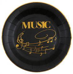 assiettes-musique-disque-or