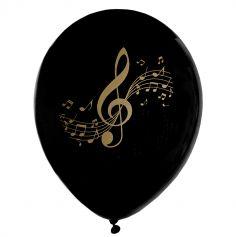 ballon-note-musique-noir-anniversaire|jourdefete.com