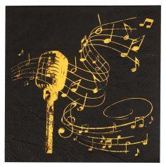 serviettes-disque-or-noir|jourdefete.com