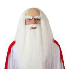 Perruque et Barbe de Druide pour adulte