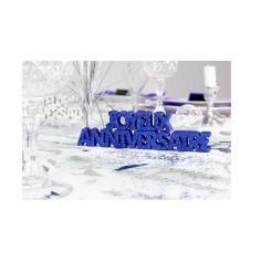 """Décoration de Table """"Joyeux Anniversaire"""" - Bleu"""