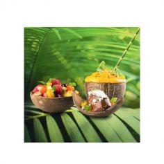 10 Bols - Coconut - Noix de Coco - Ovales - Biodégradables