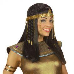 Bandeau égyptien à perles dorées