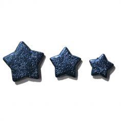 Boîte d'étoiles et cheveux d'ange bleu turquoise