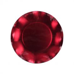 Grandes assiettes vagues x10 - Rouge satin