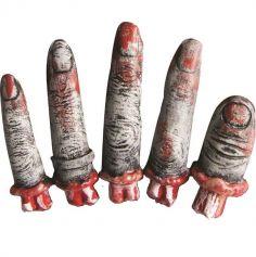 Décoration à Poser d'Halloween - Doigts coupés de Zombie