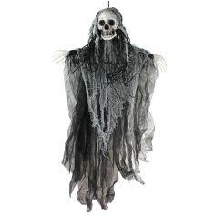 Spectre faucheur aux cheveux noirs suspendu
