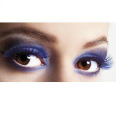 faux cils bleu adhesifs | jourdefete.com