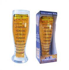 Verre à Bière Géant - 10 Commandements de mon Papa