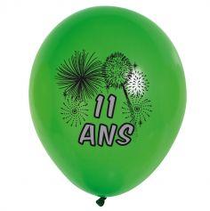 10 Ballons de Baudruche multicolore 11 ans